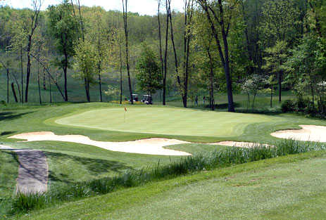 A view of a green from Stonehedge North Golf Course at Gull Lake View Golf Club and Resort