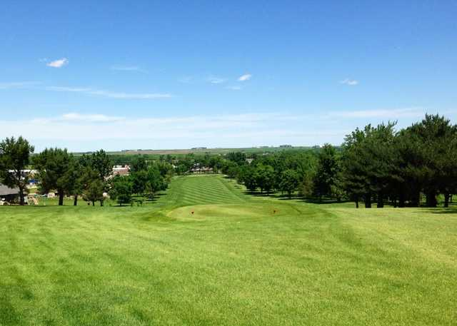 A view of the 5th red tee at Rock Valley Golf Course
