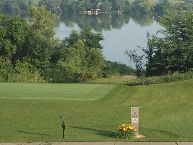A view of tee #1 at Brookings Country Club