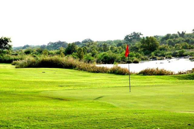 A view of a hole at Llano River Golf Course