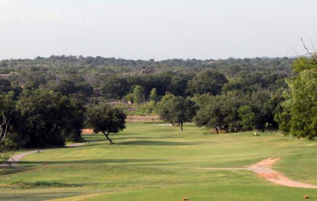 A view from a tee at Llano River Golf Course