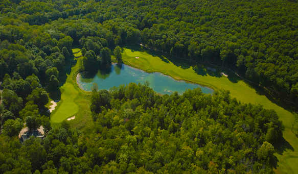 Aerial view from The Legend at Shanty Creek