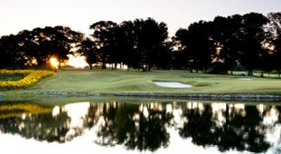 A view over the water from Colonial Country Club
