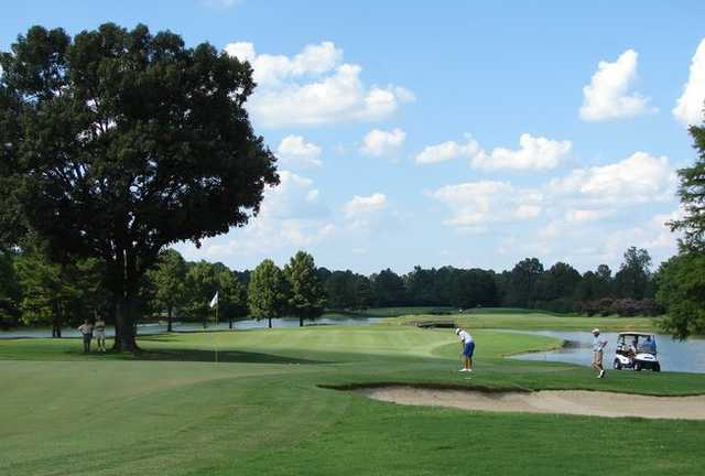 A view of a hole at Ridgeway Country Club