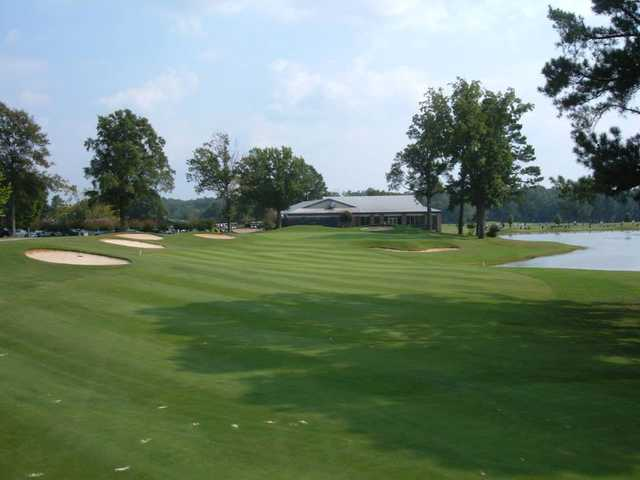 A view from a fairway at Memphis National Golf Club