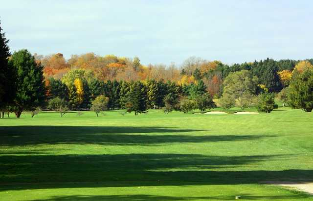 A view of the 3rd hole at Crystal Lake Golf Club.