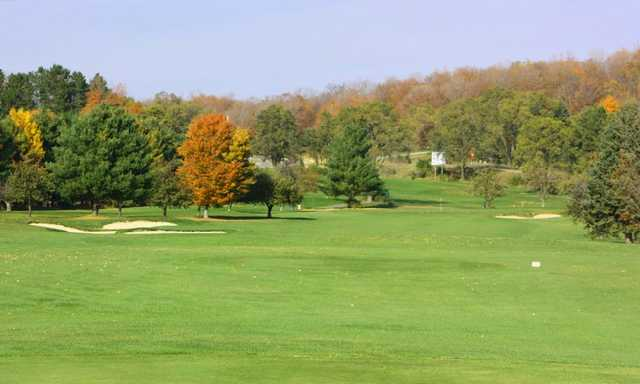 A view of the 6th green at Crystal Lake Golf Club.