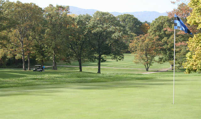 A view of a hole at Hunting Hills Country Club
