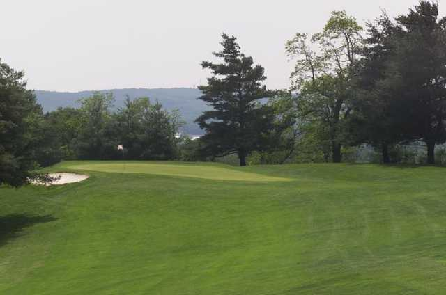 A view of hole #3 from The Hill at Blacksburg Municipal Golf Course.