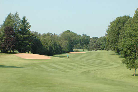 A view of fairway #6 at Brown County Golf Course