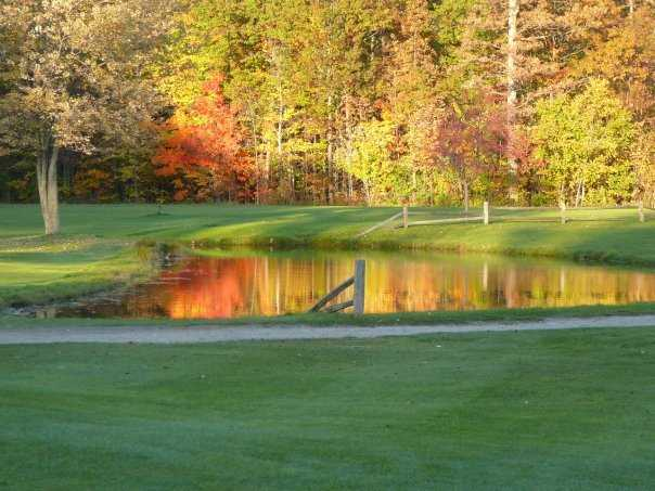 An autumn view from Michigan Meadows Golf Course