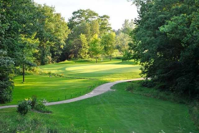 A view of green #3 at Twin Oaks Country Club
