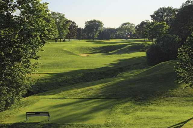 A view from tee #14 at Blue Mound Golf & Country Club.