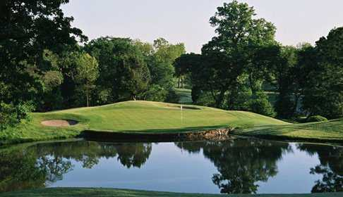 A view over the water from Bear Creek Golf Club