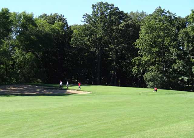 A view from a fairway at Oakwood Park Golf Course