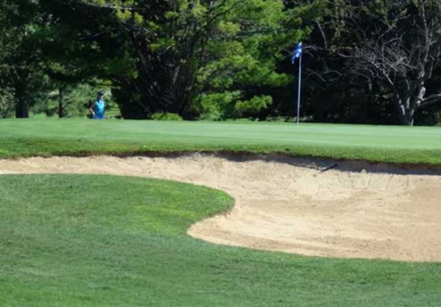A view of a hole at Oakwood Park Golf Course
