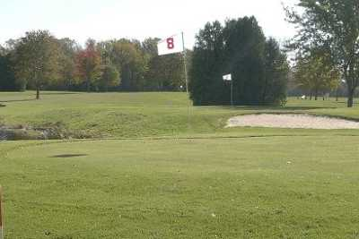 A view of hole #8 at Baehmanns Golf Center
