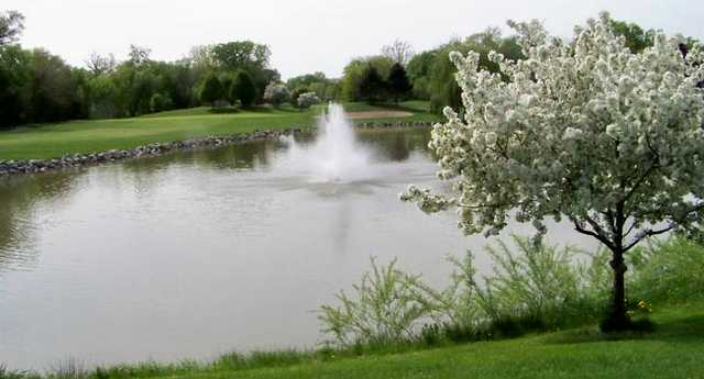 A spring view from Dearborn Hills Golf Course