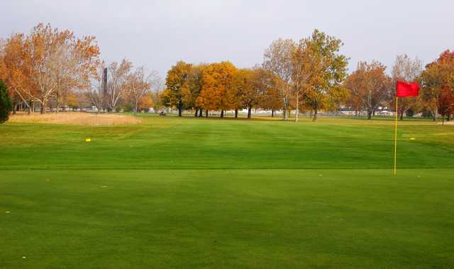 A view of the 15th green at Chandler Park Golf Course