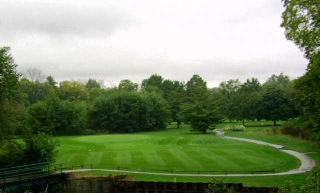 A view of green #11 at Rouge Park Golf Course