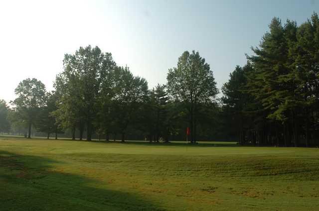 A view of a hole at Hidden Oaks Golf Course