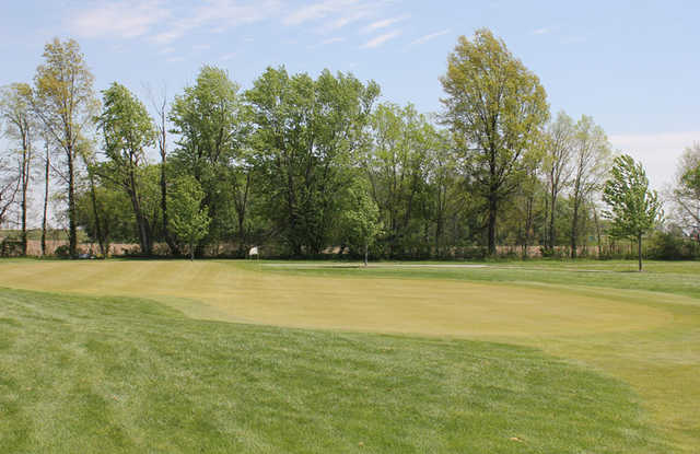 A view of the 5th green at Whispering Creek Golf Club