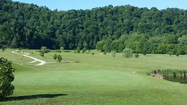 A view of the 5th green at Sugar Camp Golf Club
