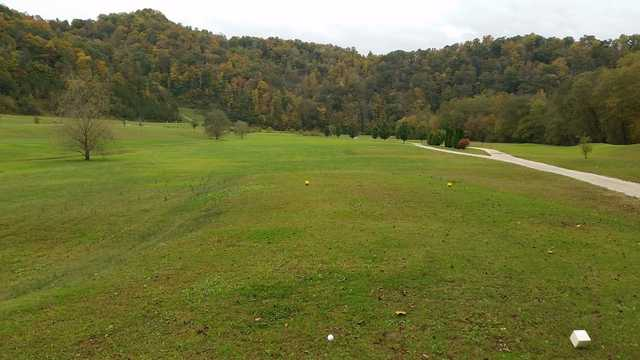 A view from a tee at Sugar Camp Golf Club