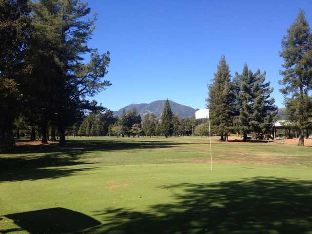 A view of a hole at Mount Saint Helena Golf Course