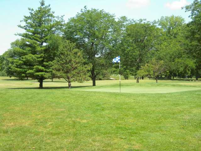 A view of a hole at Reid Park Golf Course