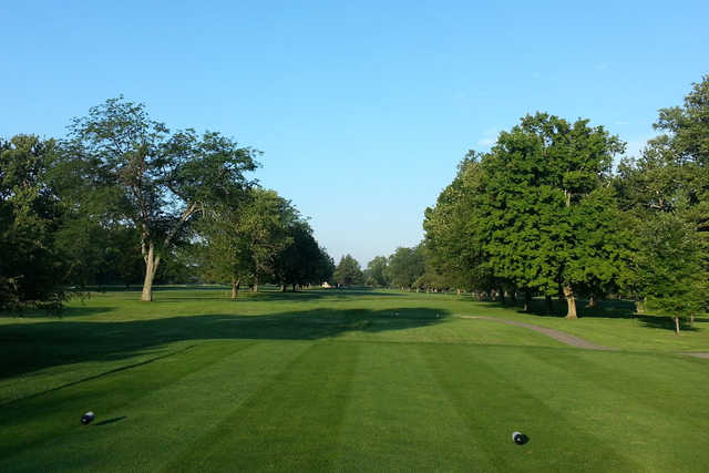 A view from a tee at Reid Park Golf Course