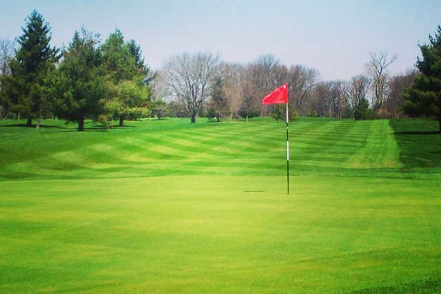 A view of a green at Reid Park Golf Course