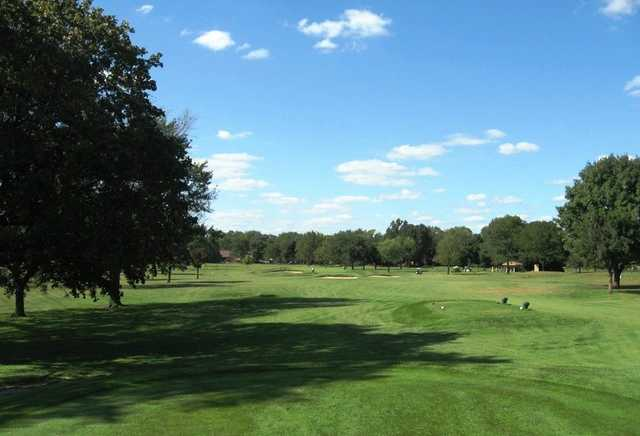 A view of the 16th tee at Rackham Golf Course