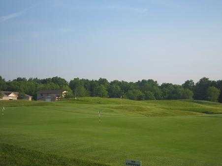 A view of the practice area at Grande Golf Club