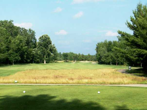 A view of the 8th tee at Pohlcat Golf Club