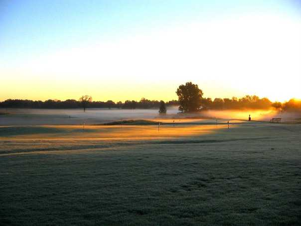 A view of the putting green at College Fields Golf Club