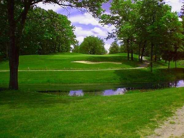 A view of the 13rd green at Rush Lake Hills
