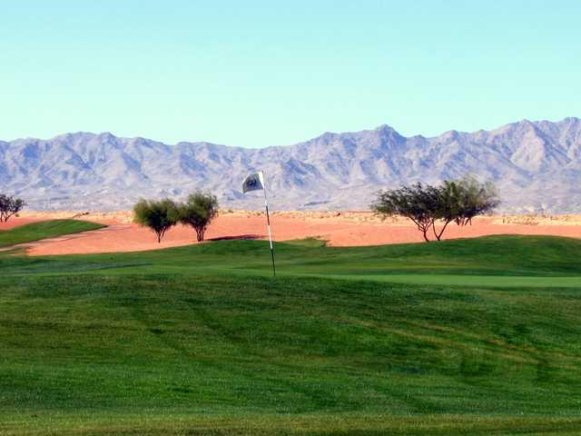 View of a green at El Rio Golf Club