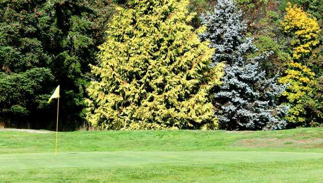 View of a green at Green Acres Golf Course