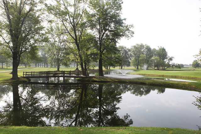 A view over the water from Table Rock Golf Club