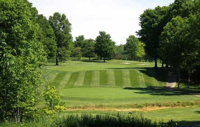 A view of a tee at Fowler's Mill Golf Course