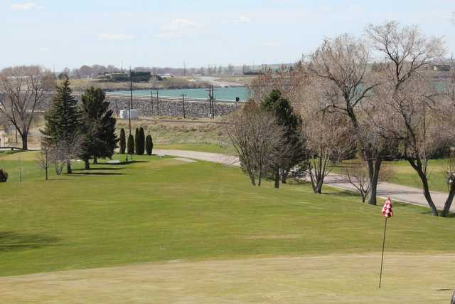 A view of hole #7 at American Falls Golf Course