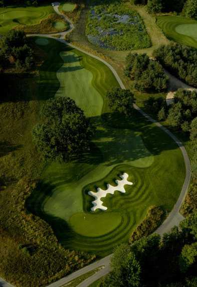 Aerial view of the 3rd hole at Tullymore Golf Club