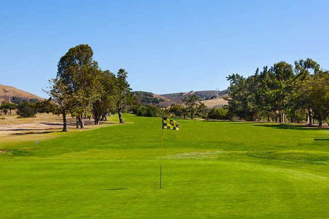 A view of a green at Rancho Maria Golf Club