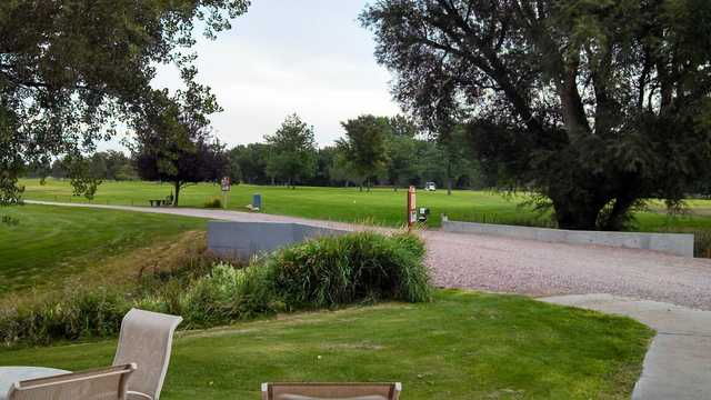 A view of a tee at Chimney Rock Golf Course
