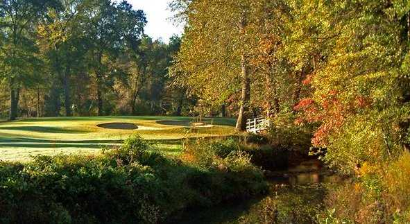 A fall view from the Eighteen Hole at RiverPines Golf Course