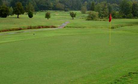 A view of a green from Chastain Park Golf Course