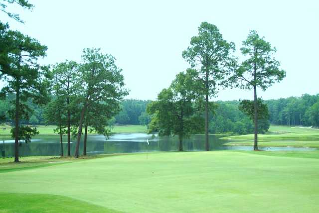 A view of a green at Goshen Plantation Golf Club