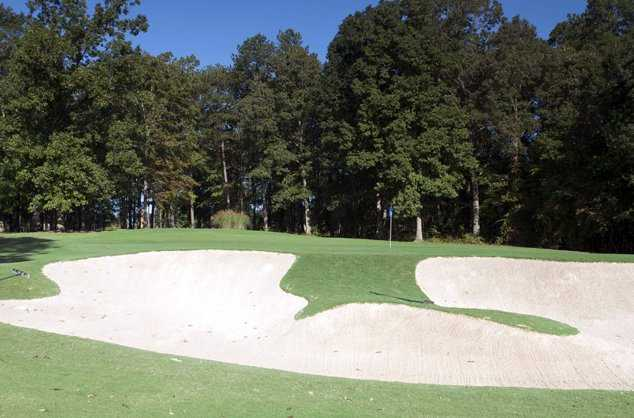 A view of the 15th green at Lane Creek Golf Club
