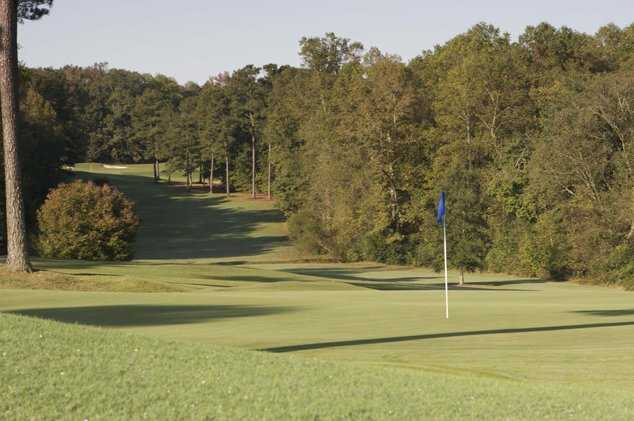 A view of green #18 at Lane Creek Golf Club